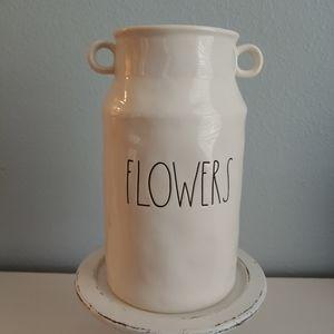 Rae Dunn FLOWERS Vase